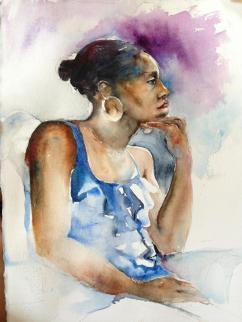 """Outward Gaze"" Watercolor 11x15 $175"