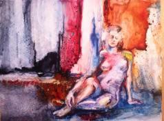 """Contemplation"" Watercolor on Yupo 11x14 $475"