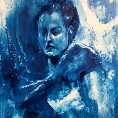 """Winter Break"" Acrylic Ink on Yupo, 13x20"" $395.00"
