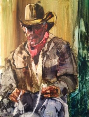 """Completely Roped Off"" Watercolor on Yupo, 20x26"" $495.00"