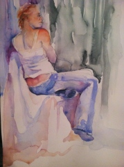 """""""Back to Us"""" Watercolor 12x16"""" $175"""