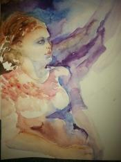 """Aquarius"" Watercolor 12x16"" $175"