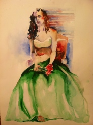 """Prom Night"" Watercolor 22x30"" $275"