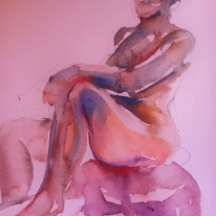 """Seated Figure Study-female"" Watercolor 11x7.5"" $125"