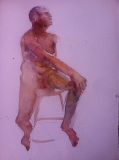 """""""Seated Figure Study"""" Watercolor 11x15"""" $125"""