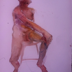 """Seated Figure Study"" Watercolor 11x15"" $125"