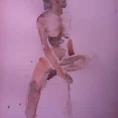 """Figure Study"" Watercolor 11x15 $125"
