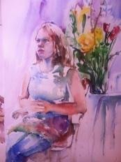 """""""Flowers Make it Better"""" Watercolor 22x15"""" $195"""