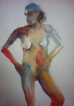 """Color Study"" Watercolor 11x15 $175"