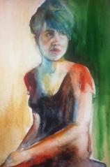 """Jade"" Watercolor 22x15 $195"