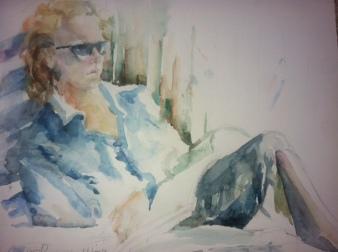 """""""Lisa"""" Watercolor 12x16"""" $175"""