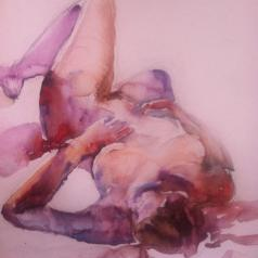 """Reclining Woman"" Watercolor 11x15"" nfs"