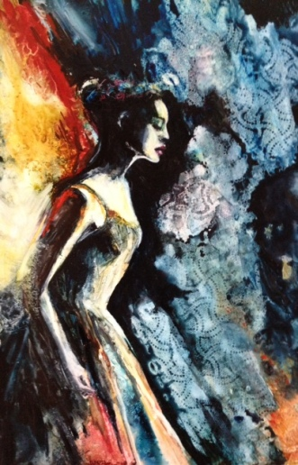 """The Passion Within"" Watercolor on Yupo 20x13"" $595"