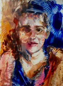 Portrait oil on Yupo