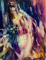"""Something Old, Something New"" original oil painting on Yupo, 20x26"" $650"